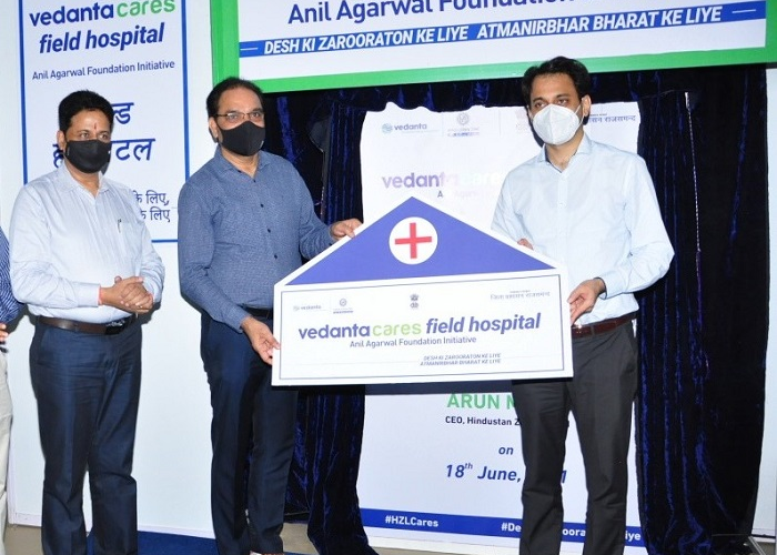 Vedanta's Hindustan Zinc Sets-up-State-of-the-Art field hospital to fight against Covid in Rajasthan